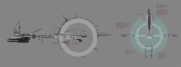 Concept artwork for base station design in the forthcoming Terra Ex 4X space game