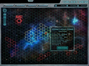 """Concept art for the Galaxy View screen of the forthcoming 4X space game, """"Terra Ex"""""""