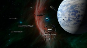 "Concept artwork for planets, starships, and bases in the forthcoming 4X space game, ""Terra Ex"""