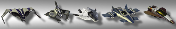 """Concept artwork for possible ship types to be included in the forthcoming 4X space game, """"Terra Ex"""""""
