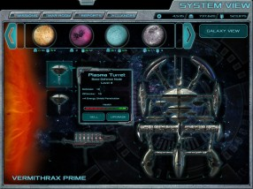 """Concept artwork for the System View in the forthcoming browser-based 4X space game, """"Terra Ex"""""""